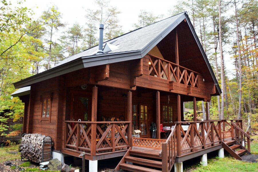 The Japanese are very keen on the Estonian log houses